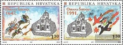 Croatia 428-429 Couple mint never hinged mnh 1997 Anniversary the Defense