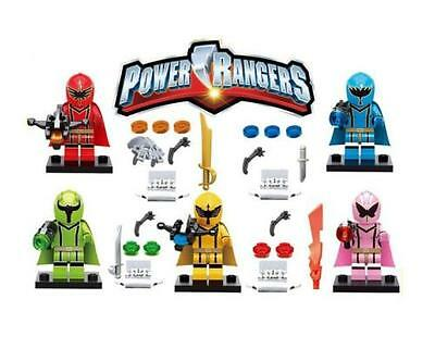 2017 5 SET  Limited edition Power rangers Mini Figures Building Toys Fits Lego