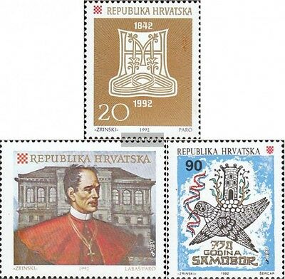Croatia 201,202,215 mint never hinged mnh 1992 special stamps