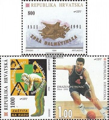 Croatia 270,273,278 mint never hinged mnh 1994 special stamps