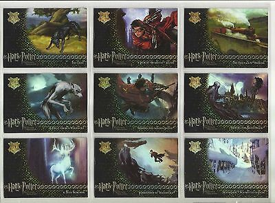 Harry Potter: Prisoner of Azkaban Update Ed FOIL Complete Set of 9 Cards (R1-R9)