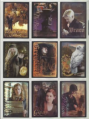 "Harry Potter: The Half-Blood Prince FOIL ""Complete Set"" of 9 Chase Cards (R1-R9)"