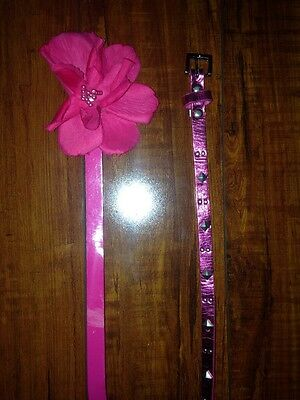 Girls Lot Of 2 Pink Belts Size 30 Inches Long