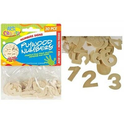30pc wooden plywood numbers