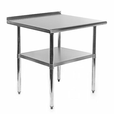 Gridmann Stainless Steel Commercial Kitchen Prep & Work Table w/ Backsplash - x