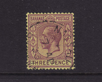 Bahamas Sg 120a; 3d Purple/Orange-yellow KGV Wmk Mult Script CA,VFU.cv £25