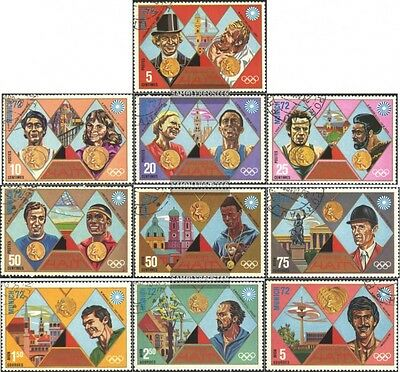 Haiti 1205-1214 (complete issue) used 1972 Gold Medalists Munic