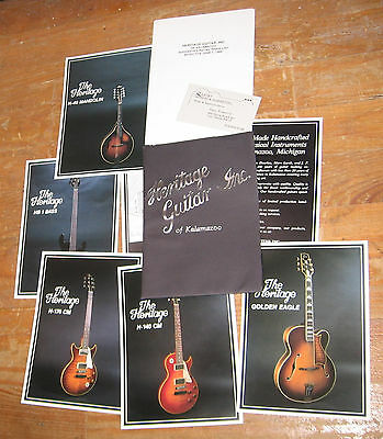 """1986 """"Heritage Guitar"""" Catalog, Brochures, and Price List."""