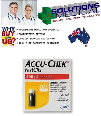 Accu-Chek Fastclix 100 + 2 Sterile Lancets Blood Diabetes Glucose Monitor