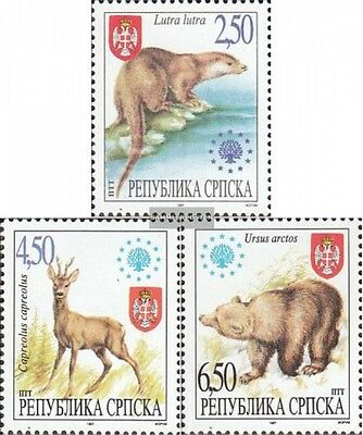 Serbian Republic bos.-h 66-68 mint never hinged mnh 1997 Locals Mammals