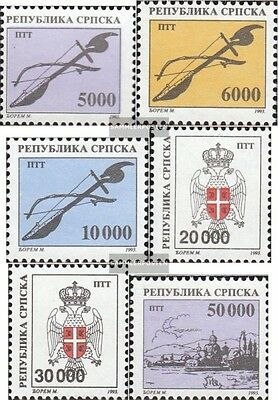 Serbian Republic bos.-h 18-23 mint never hinged mnh 1993 clear brands