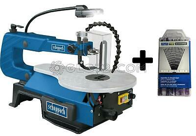 Scroll Saw Cut Plastic Metal Plaster Scheppach Sd1600V + Kit 60 Sawblades