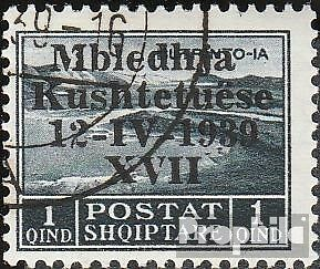 Albania 284 fine used / cancelled 1939 Verfassungsgebende Assembly