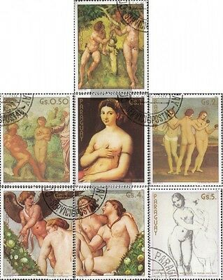 Paraguay 3546-3552 fine used / cancelled 1982 500. Birthday of Raphael