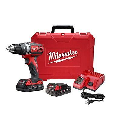 "Milwaukee M18 18V Li-Ion 1/2"" Drill Driver Kit 2606-22CT New In Box"