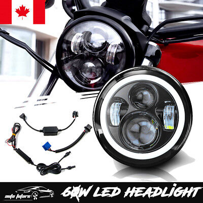 7inch Round LED Headlight Projector Daymaker Lamp for Harley Davidson YAMAHA