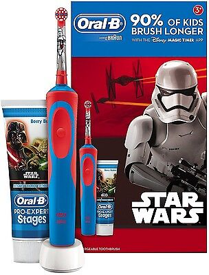 Braun Oral-B STAR WARS Rechargeable Electric Toothbrush + Toothpaste Kids Set