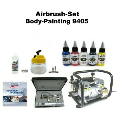Komplett Airbrush Set Body-Painting 9405 Ultra Two in One + Sparmax AC-500 Kompr