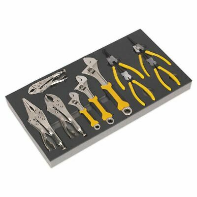 Siegen S01130 Tool Tray with Adjustable Wrench & Pliers Set 10pc