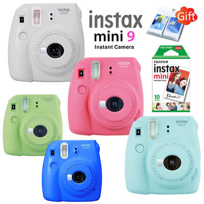 Fujifilm Instax Mini 8 Film Camera + 10 Sheets Fuji Instant Polaroid Photo +Gift