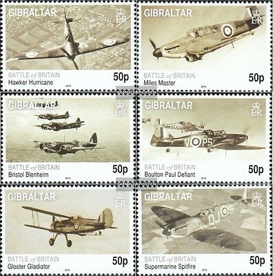 Gibraltar 1363-1368 mint never hinged mnh 2010 Battle to England