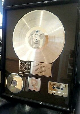 Rolling Stones RIAA Platinum Award for Steel Wheels