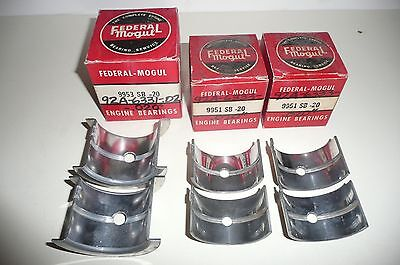 1940 Ford V8 60 hp 60hp .020 u/s main bearing set NOS/NORS 40 flathead 60-hp