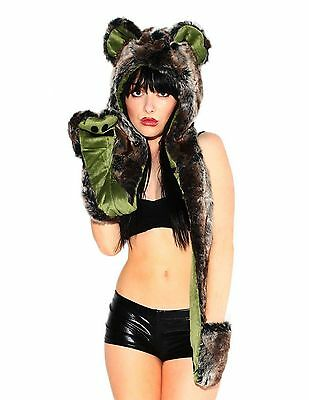 iHeartRaves Koala Rave Spirit Animal Furry Hood Free Shipping, New
