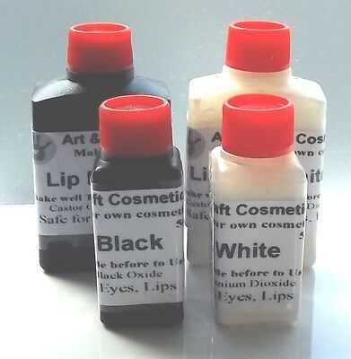 Liquid Black & White Pigment Colorant Cosmetic Grade Shade or Tint Home Makeup