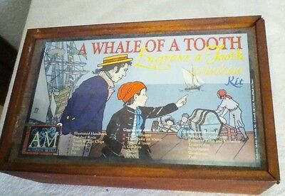 VINTAGE Whale  of a Tooth Scrimshaw Kit