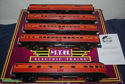 MTH Premier 20-65239 Southern Pacific 5 Car 70' ABS Passenger Set Ribbed MIB **