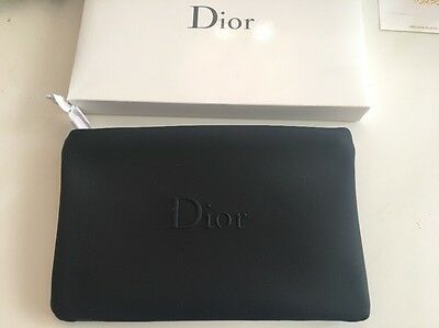 CD Dior Beauty Cosmetic Makeup Patent Bag Pouch Clutch Trousse black