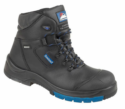 Himalayan 5160 black S3 SRC composite waterproof safety boots with toe & midsole