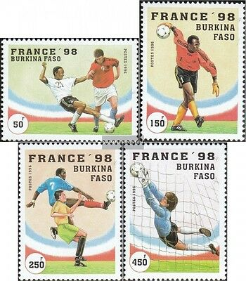 Burkina Faso 1427-1430 mint never hinged mnh 1996 Football-WM 1998