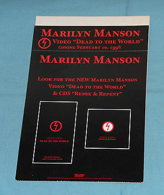 vintage MARILYN MANSON DEAD TO THE WORLD + REMIX & REPENT store counter display