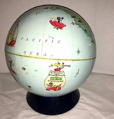 Vintage Rand Mcnally Sesame Street Character Pictorial  World Globe 1985