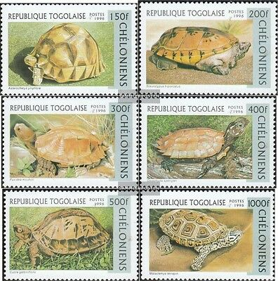 Togo 2480-2485 unmounted mint / never hinged 1996 Turtles