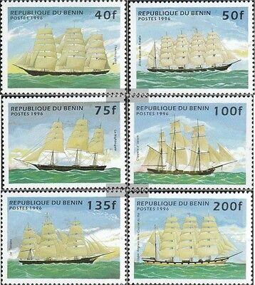 Benin 799-804 (complete.issue.) unmounted mint / never hinged 1996 Sailboats