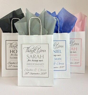 Personalised Wedding Favour Paper Gift Bag Thank You Party
