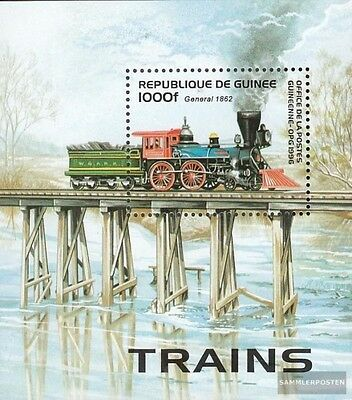 Guinea block501 unmounted mint / never hinged 1996 Old Locomotives