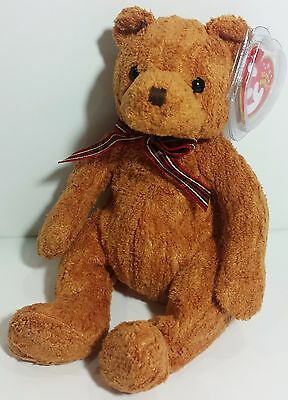 """TY Beanie Babies """"WOODY"""" the Brown Teddy Bear - MWMTs! PERFECT GIFT! A MUST HAVE"""