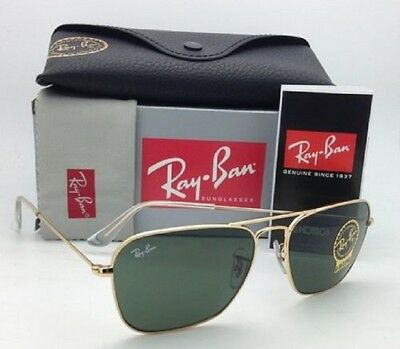 New Unisex Sunglasses Ray-Ban RB3136  001 Caravan Gold/Green 58mm
