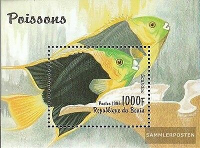 Benin block23 (complete.issue.) unmounted mint / never hinged 1996 Fish