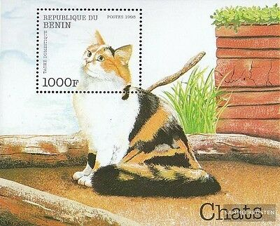 Benin Block42 (complete.issue.) unmounted mint / never hinged 1998 Cat Breeds