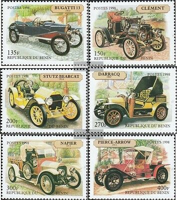 Benin 1063-1068 unmounted mint / never hinged 1998 Old Cars