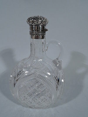 Gorham Decanter - S1744 - American Brilliant-Cut Glass & Sterling Silver - 1894