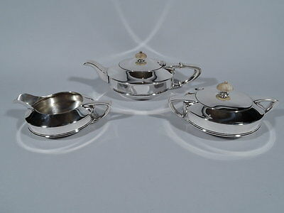Gorham Tea Set - A10295 A10296 A10297 - Art Deco - American Sterling Silver