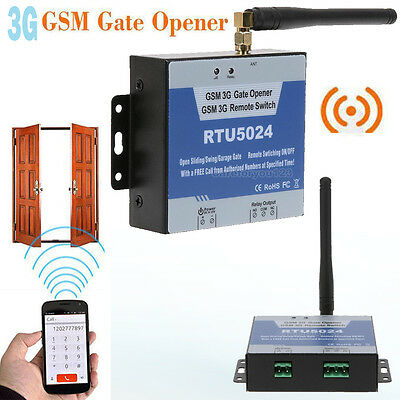 3G RTU5024 GSM Gate Opener Relay Switch Wireless Door Access Remote Control