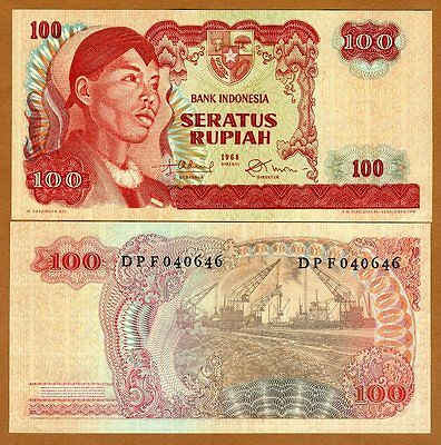Indonesia, 100 Rupiah, 1968, P-108, UNC   General Sudirman