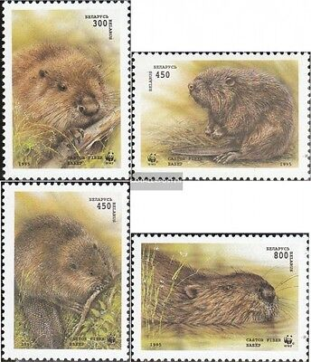 Belarus 96-99 (complete.issue.) unmounted mint / never hinged 1995 Beavers